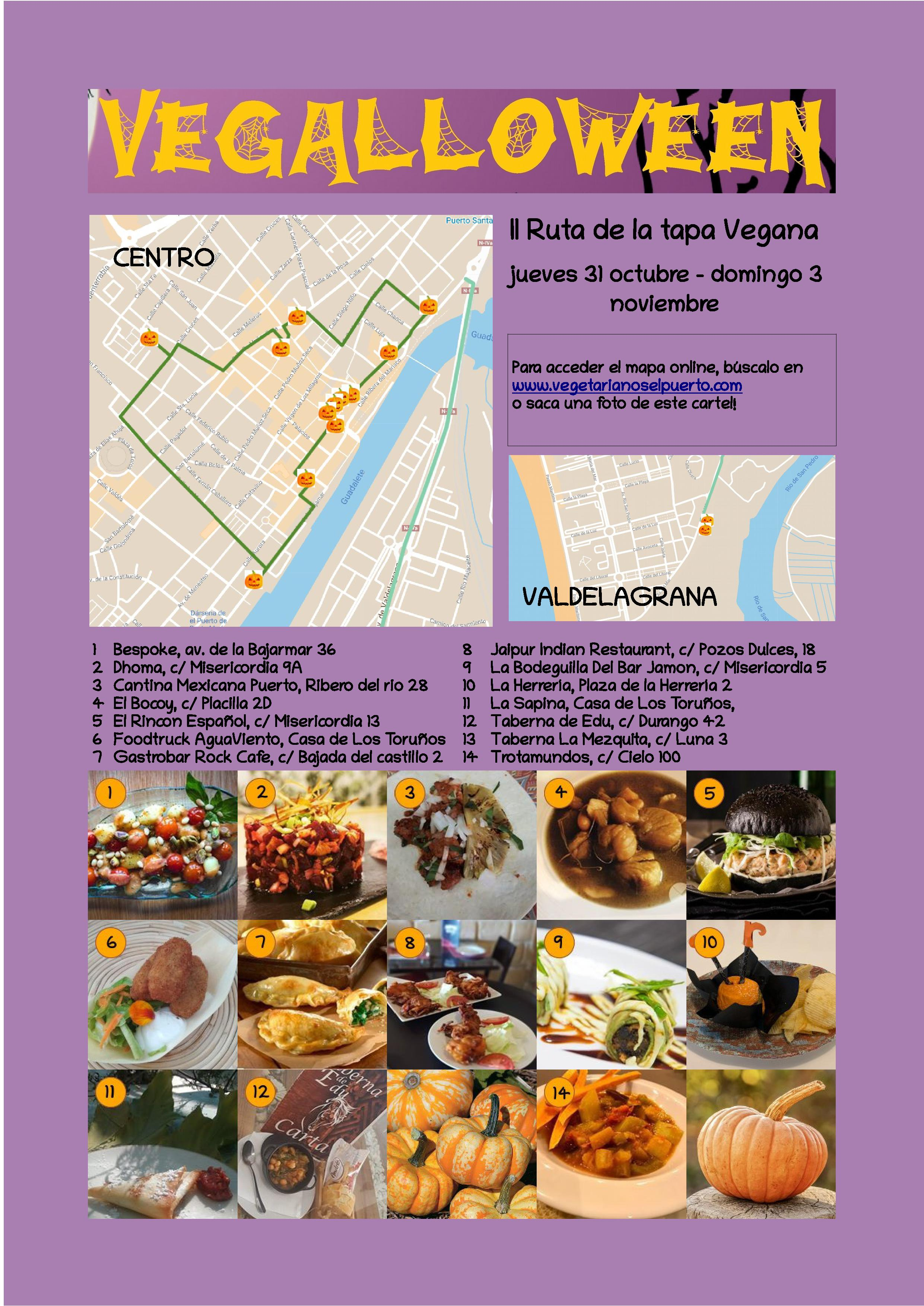 Vegalloween – el cartel del mapa