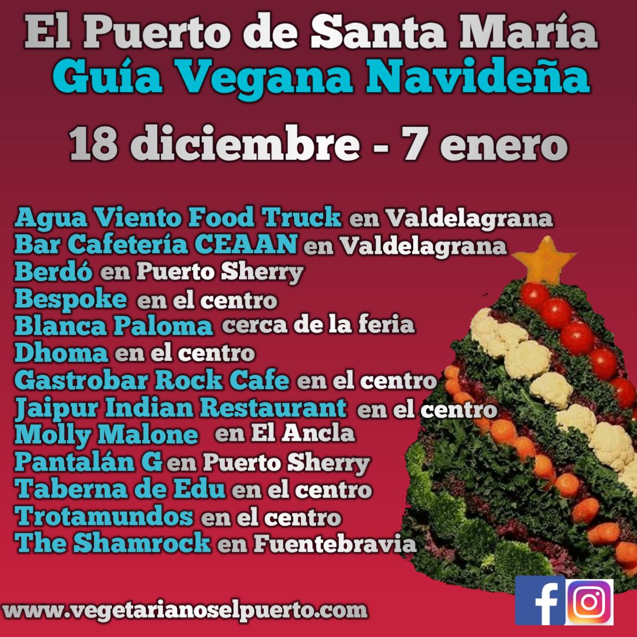 La Guía Vegana Navideña en El Puerto de Santa María.