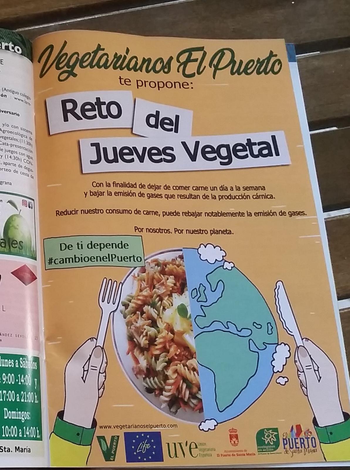 Jueves Vegetal – publicidad en El Boletin en marcha!