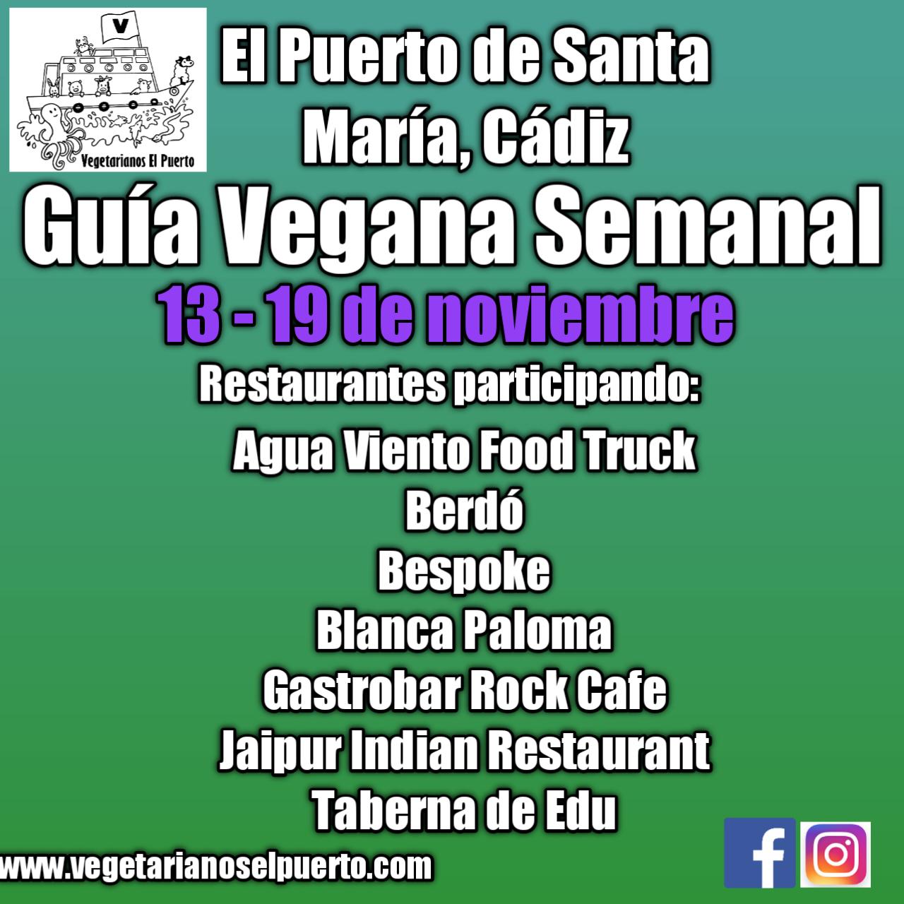 Guía Vegana Semanal 13-19 noviembre